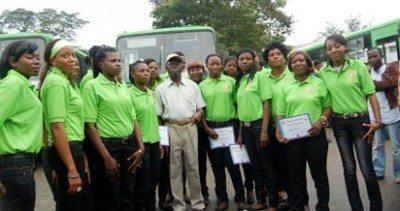 Edo State Female Bus Drivers Run the Show