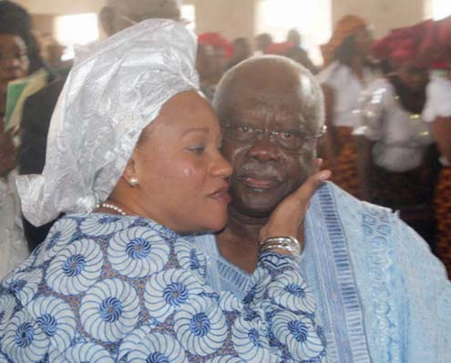 Chief Olabode George and wife