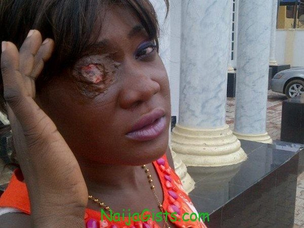 Mercy Johnson gone blind