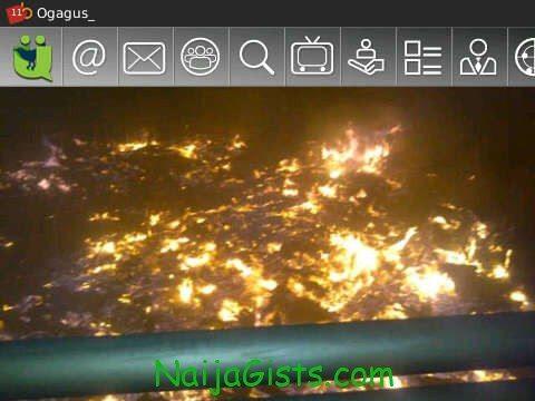 fire under third mainland bridge in lagos