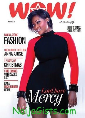 Mercy Johnson wow magazine cover december 2011 edition