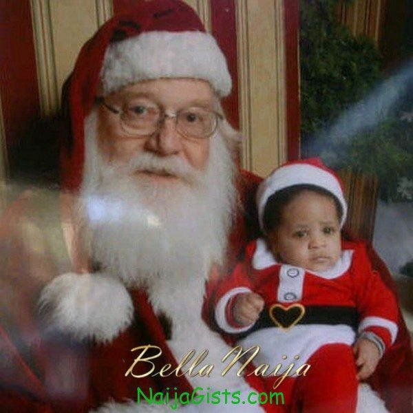 mike enzuruonye son with father christmas