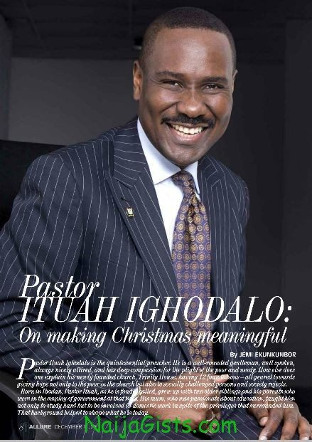 Pastor Ituah Ighodalo Covers 2011 Christmas Edition Of Allure Magazine