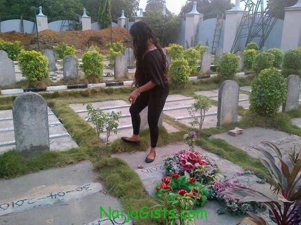 tonto dikeh dagrin graveyard