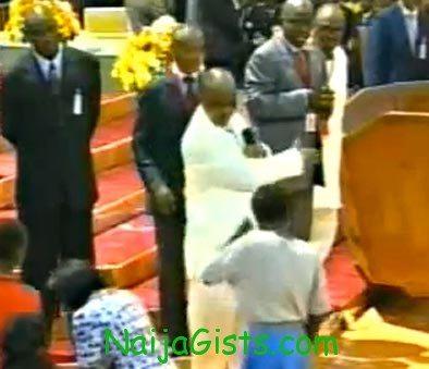 bishop david oyedepo slaps a woman