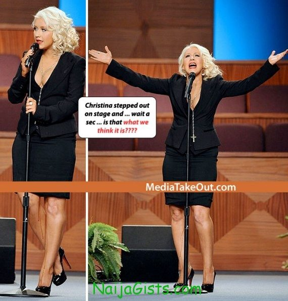christina aguilera menstrual blood stage 1