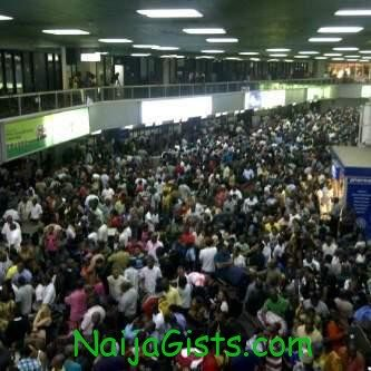 crowded murtala muhammed intl airport lagos