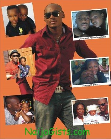 tuface (2face) idibia wife, wives and kids
