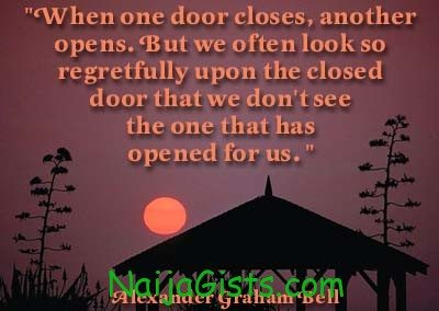 when one door closes by  alexander graham bell quote