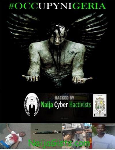 nigerian army website hacked
