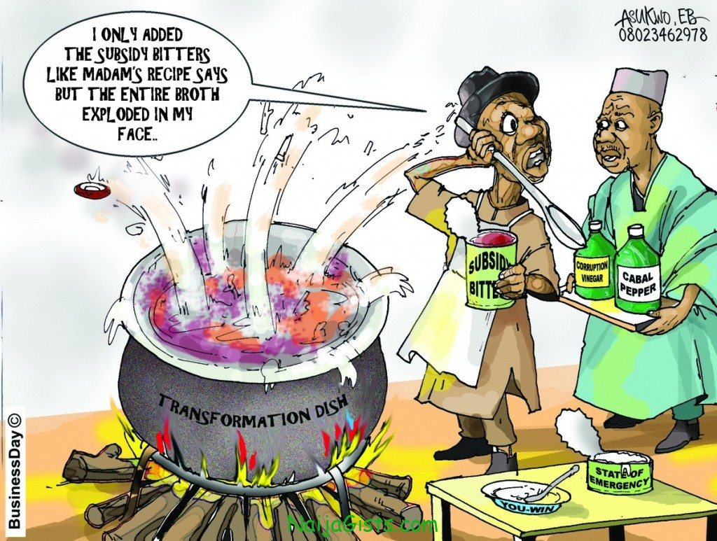 fuel subsidy removal cartoon
