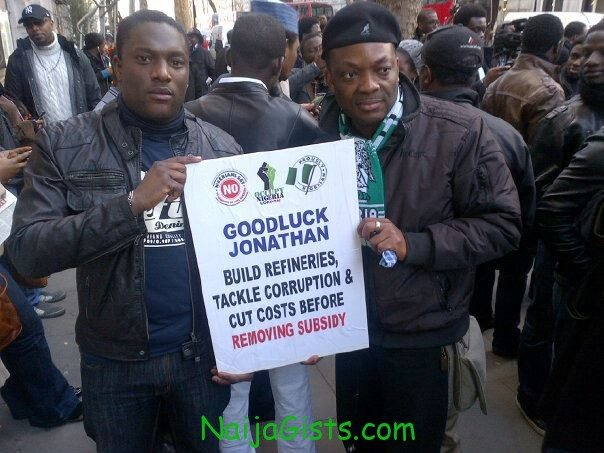 fuel subsidy removal protest in london