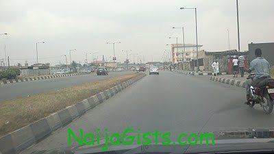 Lagos roads are empty