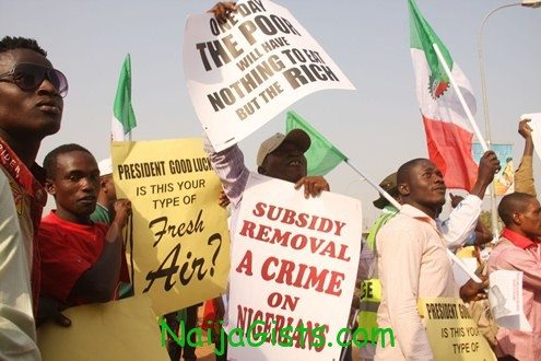 fuel subsidy removal protest in abuja