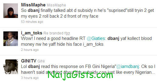 fuel subsidy removal tweets