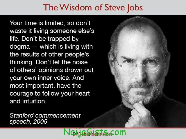your time is limited quote by steve jobs