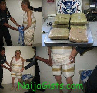 grandmother arrested while smuggling drug