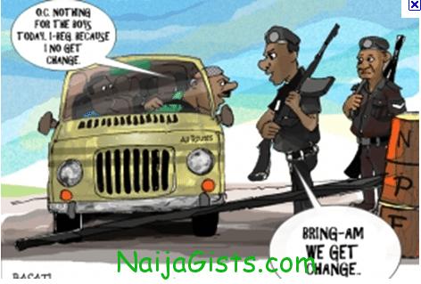 Nigerian Police Corruption Cartoon