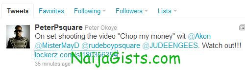 psquare twitter page