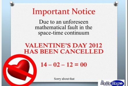 valentines day 2012 cancelled