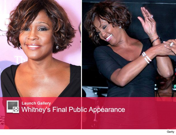 whitney houston final public appearance before her death