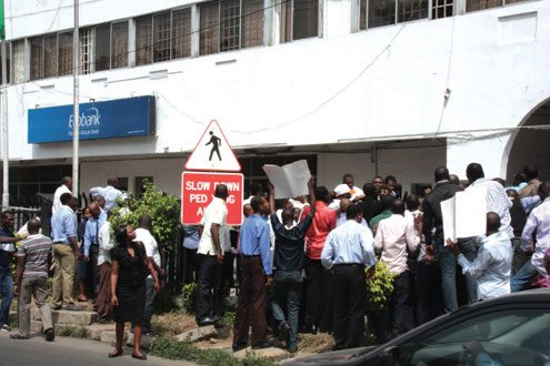 oceanic bank staff protest