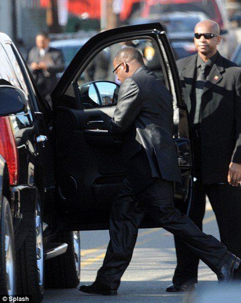 bobby brown leaving whitney houston funeral