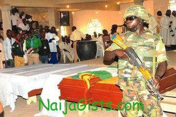 mass funeral bomb blast victim suleja niger state nigeria