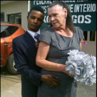 Nigerian boy marries white grandmother in ikoyi lagos