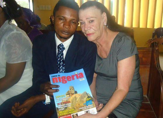 Nigerian boy and grandmother bride