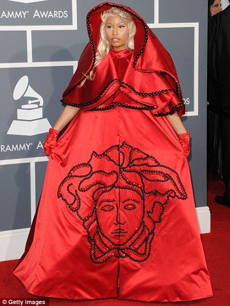 nicki minaj catholic outfit