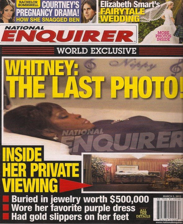 whitney houston dead body photos