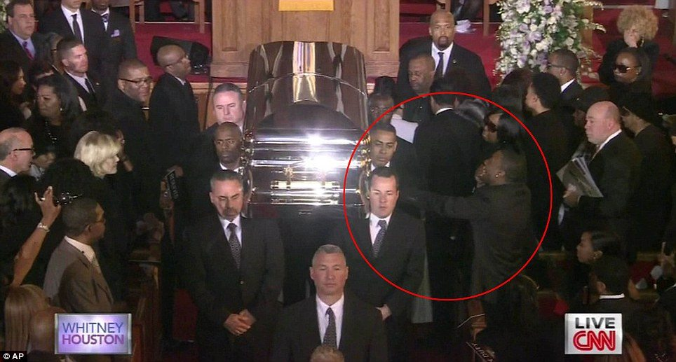 Ray J At Whitney Houston Funeral