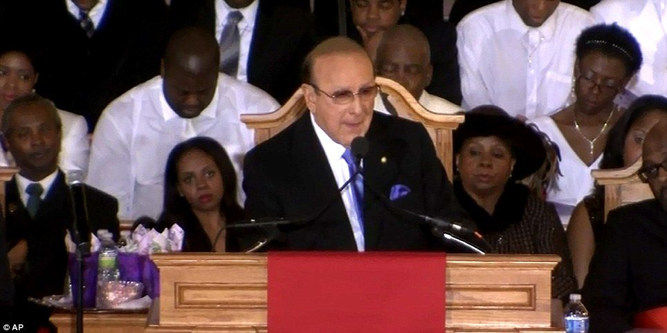 Clive Davis Whitney Houston Mentor at her funeral
