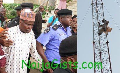 Inuwa-Musa climbs telecom mast