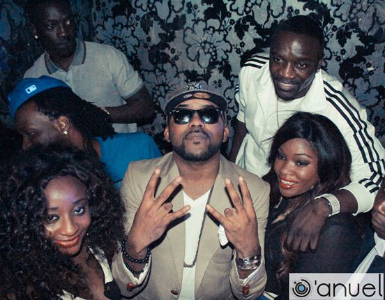 akon attends banky w birthday
