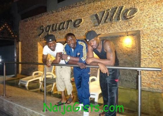 akon visits P square home in lagos