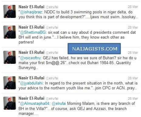 el rufai tweet about goodluck jonathan and boko haram