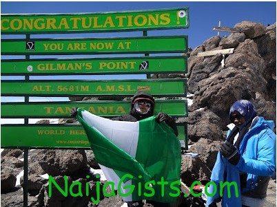 funmi iyanda on mountain kilimanjaro