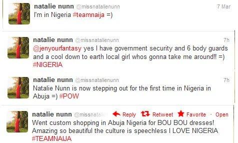 natalie nunn in nigeria tweets