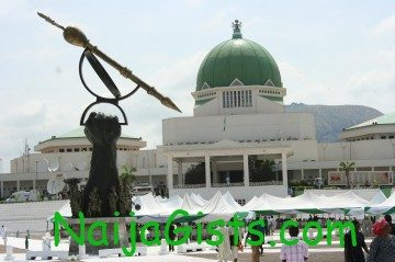 national assembly catches fire in abuja
