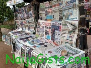 news in nigerian newspapers today