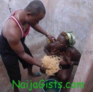 pastor bathing housewife