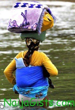 woman sacrifices daughter to river goddess