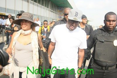 bobby brown arrives lagos nigeria