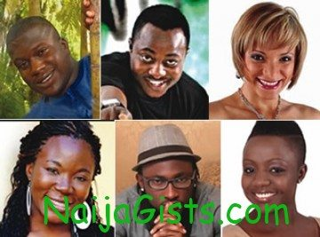 Clockwise from top left -Bayo, Kelvin, Tatiana, Vina, Uti, fnneka,