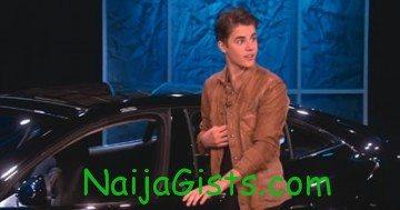 Justin Bieber electric car birthday gift