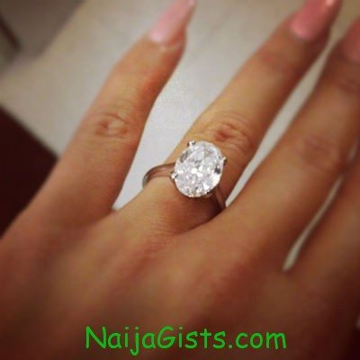 amber rose engagement ring