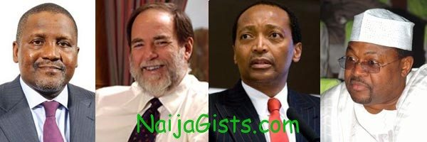 richest people in africa in 2012