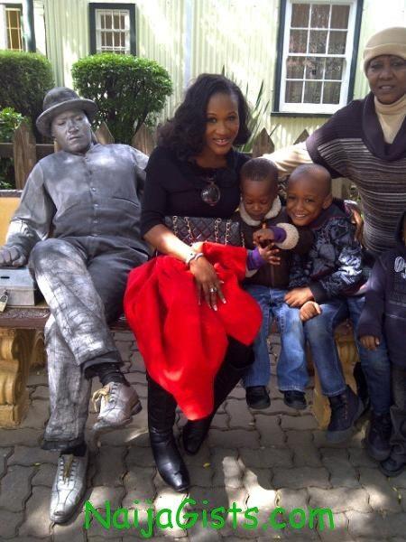 Sunmbo Ajaba and 2face kids